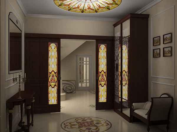 современный дизайн прихожей в доме, фото 67