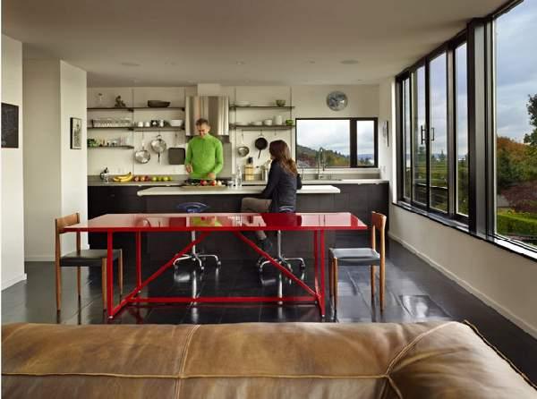кухня в современном стиле в доме, фото 20