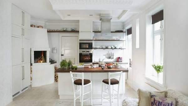 фото современных кухонь в частном доме, фото 79