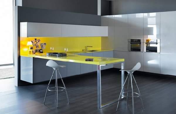 современные кухни с барной стойкой, фото 72