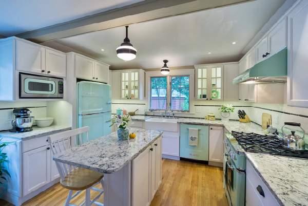 угловая кухня в современном стиле, фото 36