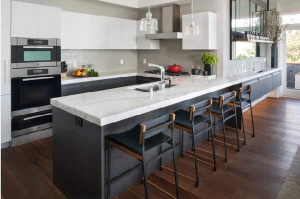 угловая кухня в современном стиле, фото 37