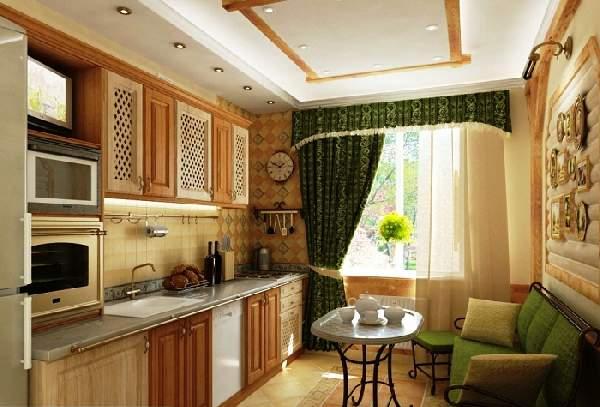 дизайн кухни с балконом и диваном фото, фото 31