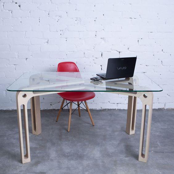 Стеклянный письменный стол, фото 10