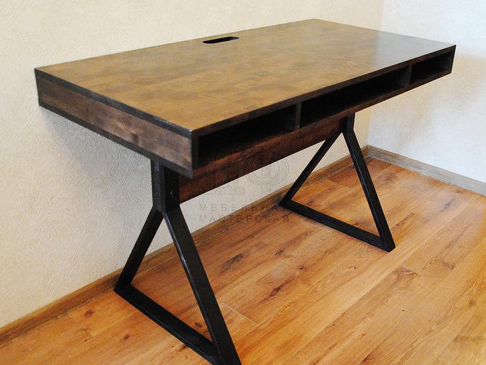 сделать стол в стиле лофт, фото 4
