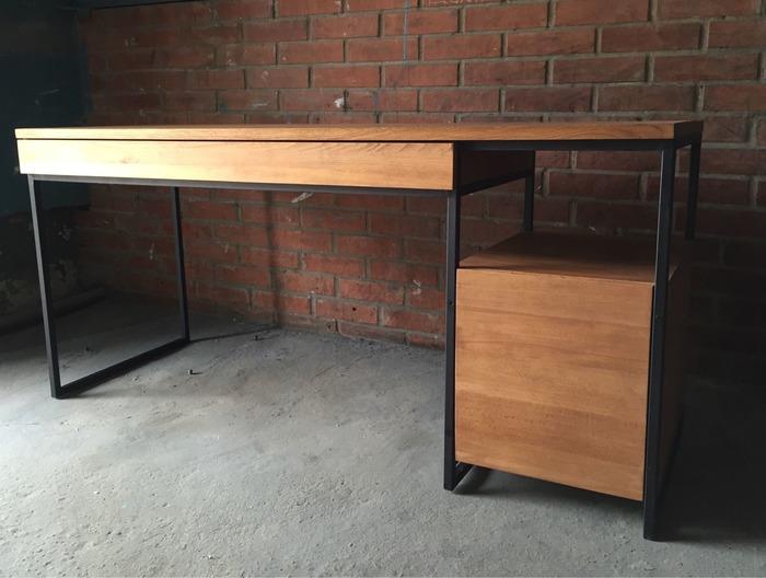 сделать стол в стиле лофт, фото 7