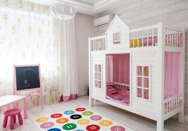 дизайн детской комнаты для девочки фото интерьеров