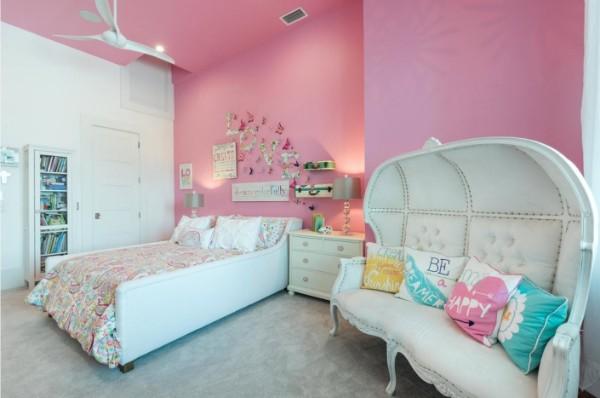 дизайн интерьера детской комнаты для девочки фото