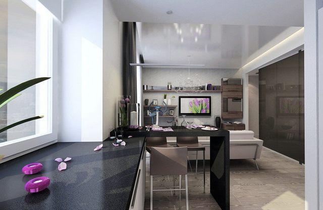 дизайн кухни гостиной современные идеи