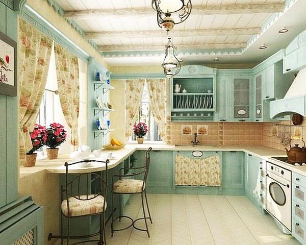 дизайн маленькой кухни в стиле прованс 4
