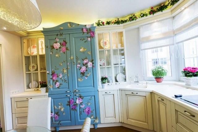 дизайн маленькой кухни в стиле прованс фото 01
