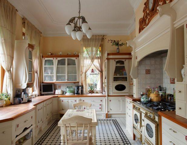 дизайн маленькой кухни в стиле прованс фото 2