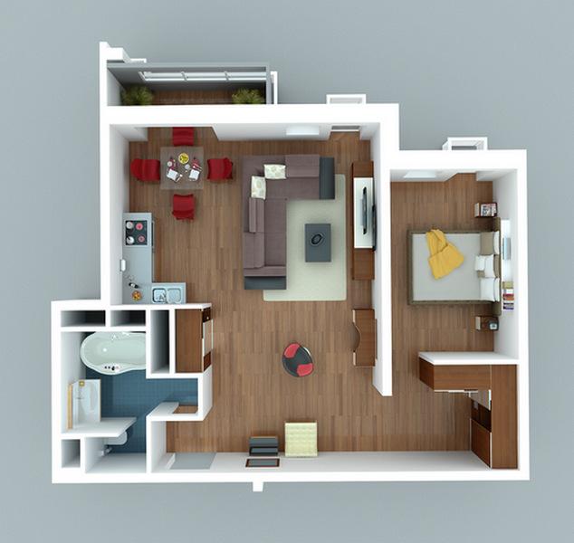дизайн проекты маленьких квартир студий