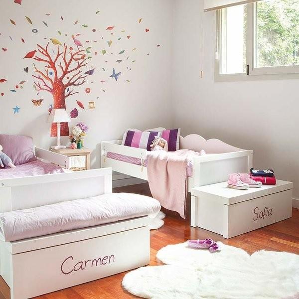 интерьер детской комнаты для 2 девочек фото