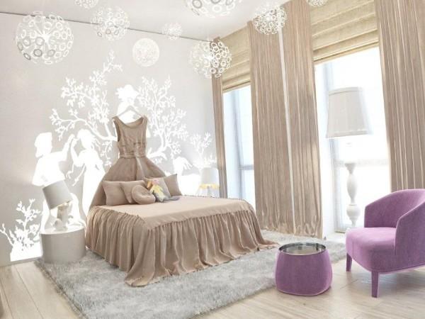 интерьер детской комнаты для девочки 12 фото