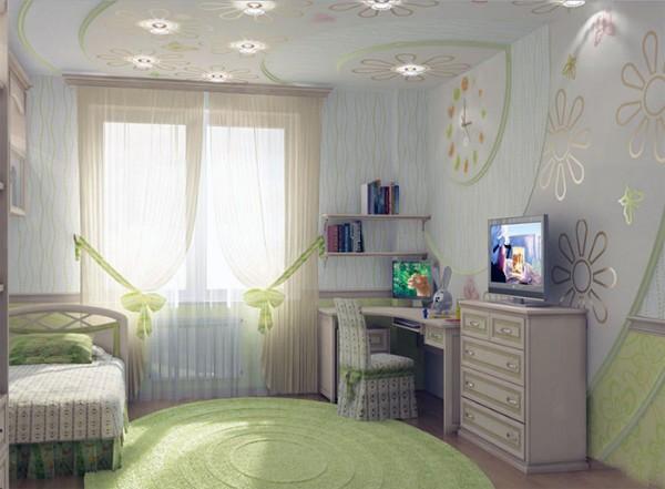 интерьер детской комнаты для девочки 12