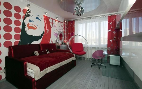 интерьер детской комнаты для девочки 14 лет