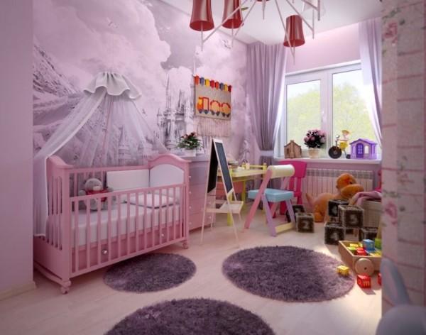 интерьер детской комнаты для девочки 2 года