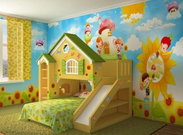 интерьер детской комнаты для девочки 3 лет