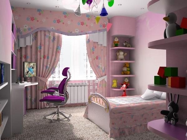 интерьер детской комнаты для девочки 8 лет