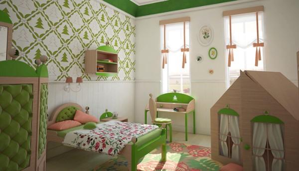 интерьер детской комнаты для девочки в хрущёвке