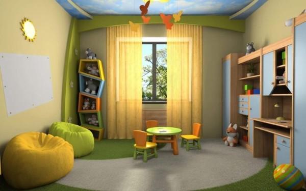 интерьер детской комнаты в естественных тонах для девочки