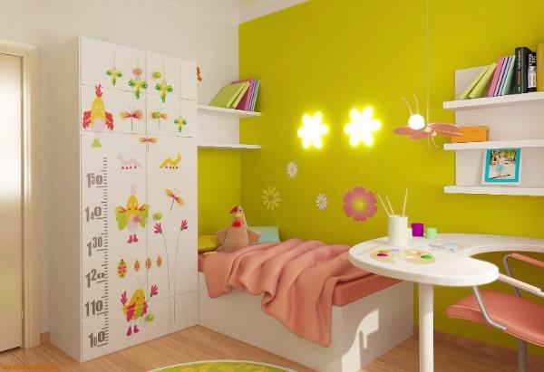интерьер маленькой детской комнаты для девочки