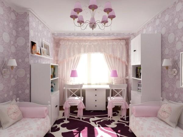 интерьер обои для детской комнаты для девочек фото