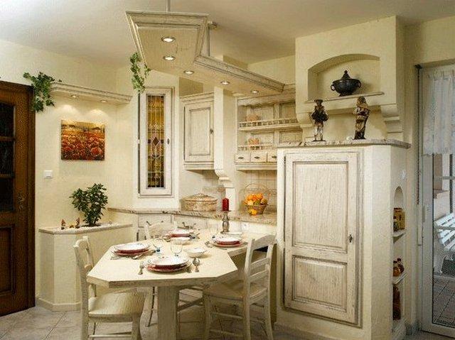 маленькая кухня в стиле прованс дизайн фото