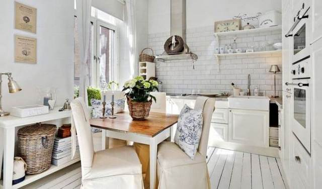 маленькая кухня в стиле прованс дизайн интерьера