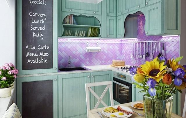 маленькая кухня в стиле прованс фото