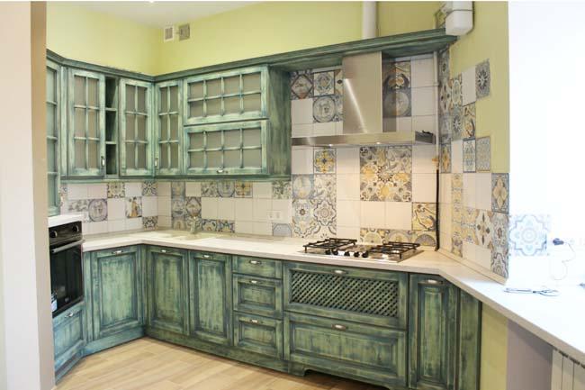 маленькая кухня в стиле прованс в хрущёвке