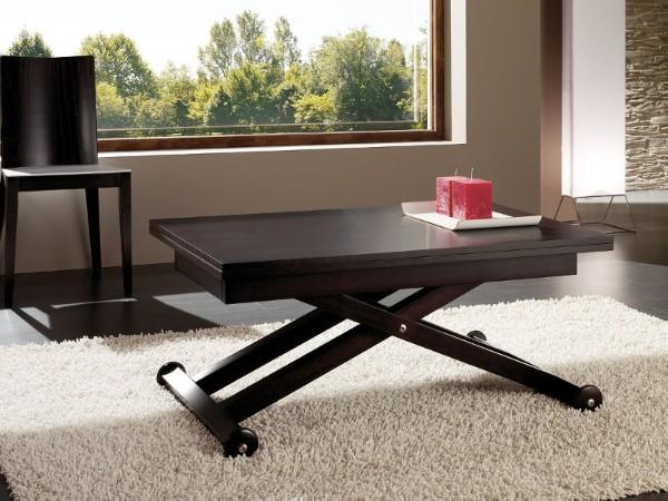 раскладной коричневый стол с перекрёстными ножками