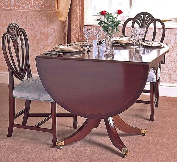 раскладной овальный обеденный стол