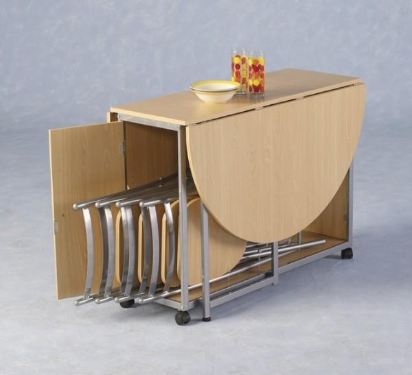 раскладной стол и стулья