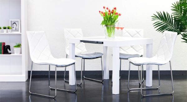 раскладной стол консоль белого цвета