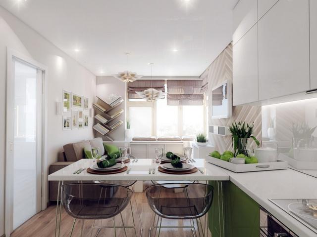 современная кухня гостиная