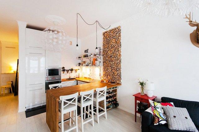 современные кухни студии фото