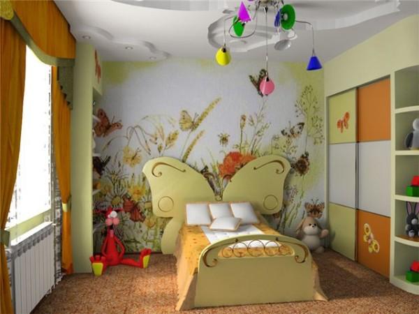 стиль оформления интерьера детской комнаты для девочки