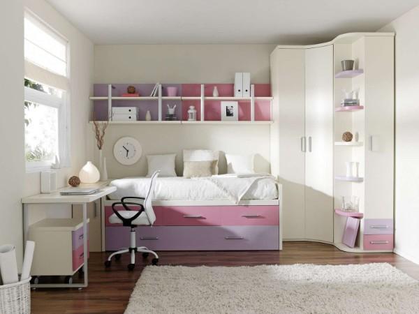 светлый интерьер детской комнаты для девочки 7 лет