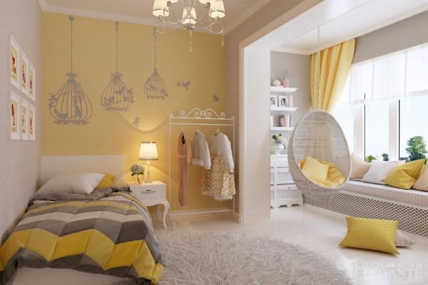 цвет в интерьере детской комнаты для девочки фото