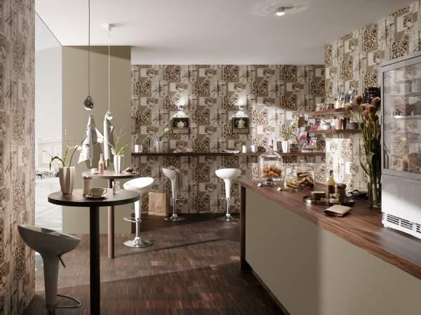 недорогие моющиеся обои для кухни фото, фото 10