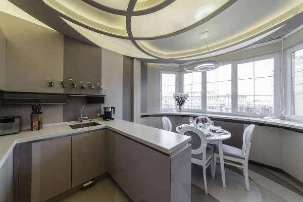 современный интерьер маленькой кухни, фото 8