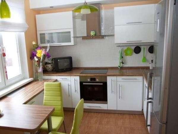 современный интерьер маленькой кухни, фото 9