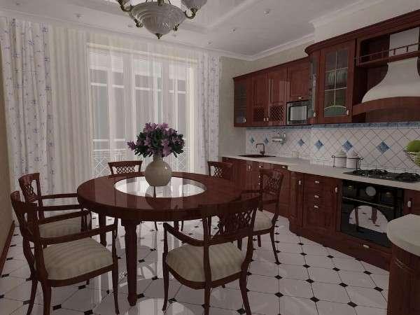 дизайн кухни современная классика, фото 44