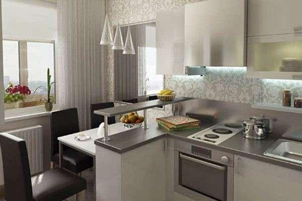 современные кухни с барной стойкой, фото 11