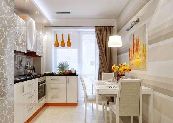 современный дизайн маленькой кухни, фото 13