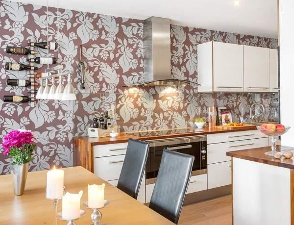 недорогие обои для кухни моющиеся, фото 23