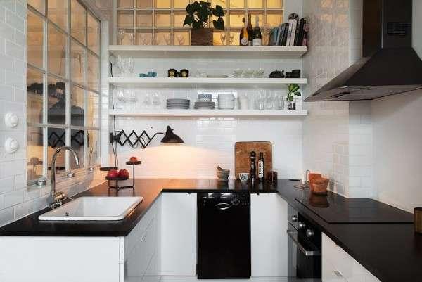 интерьер современной небольшой кухни, фото 30