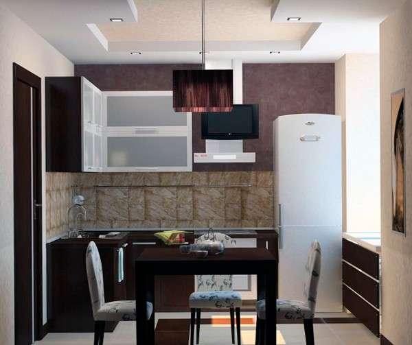 современные идеи для маленькой кухни, фото 23